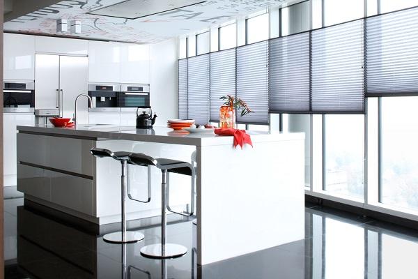 Inspiratie plissés en duettes in de keuken inhuis plaza