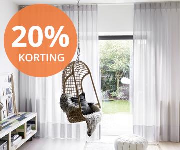 Oktober Woonmaand: 20% korting op Raamdecoratie | INHUIS Plaza