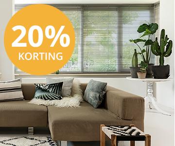 Crazy summerdeals: 20% korting op raamdecoratie & zonwering inhuis